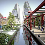 Food Gardens, Channels, Vertical Farms - Shanghai Sustainable Masterplan